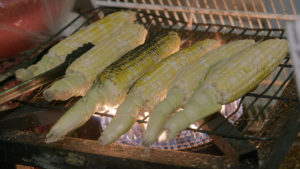 Barbequed corn is a mainstay of the Gerrard India Bazaar.